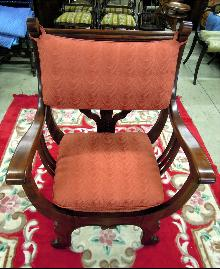 Art Nouveau Deco Chair Wood