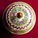 Trio Limoges Trinket Boxews  Floral  Gold