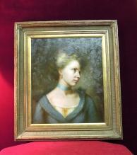 Faithful Foliate Oi lPainting Portrait of Woman