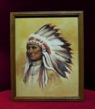 Paul Boren  Print Chief with Headdress