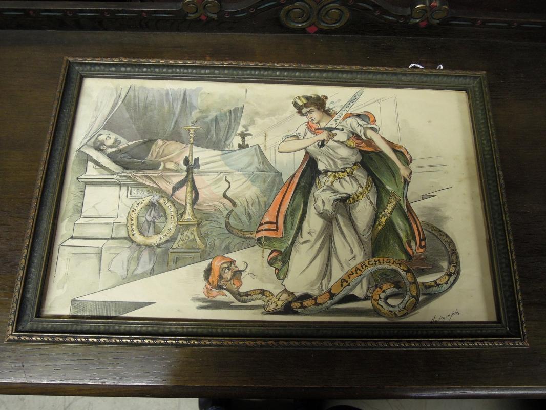 Louis Dalrymple Print  Aroused  1894