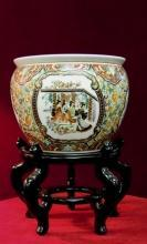 Asian Porcelain  Planter Zhong Guo Zhi Zao  Large