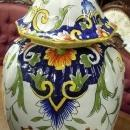 Desvres Faience Lidded Jar  Fourmaintraux