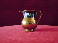 Lusterware  Pitcher Copper Raised Nature Scene