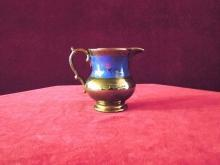 Lusterware  Pitcher Copper  with  Blue Floral
