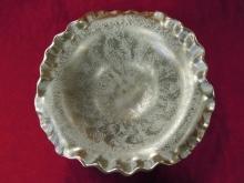 Stangl  Platinum Dish  Art Pottery   4084