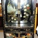 Shanghai China Black Lacquer China Cabinet