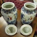 Pair  Ginger  Jars Da Quing Quanlong Collecible
