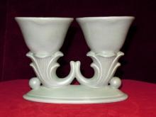 Red Wing Rumrill Double Vase 1938  865