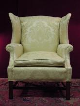Chippnedale Style  Wing Back Chair Down Cushion