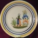 Quimper Henriot Plate, Bretonne Woman #112