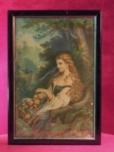 Victorian Print, Beautiful Maiden