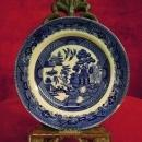 Buffalo Pottery, Plate, 1909 Blue Willow Pattern