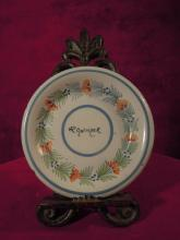 Vintage HR Quimper, Floral Patterned Plate, Unique