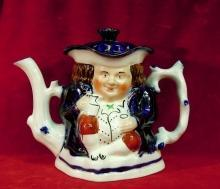 Toby Style Teapot, Chocolate Pot Allertons, England