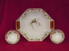 Theodore Haviland Limoges, Arcadia Pattern,  Pair of PV France Bowls
