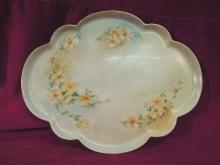 CF Haviland, Platter, 1900 Yellow Floral