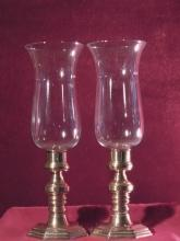 Brass Candlesticks with Globes, Andrea by Sadek