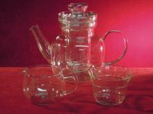 Otto Schott German Jenaer Glas, Coffee/ Tea Pot Set.
