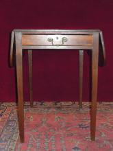 Antique  Wooden Drop Leaf Table with Drawer