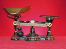 Antique Balance Scale  Cast Iron and Brass