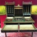 19th Century American Sea Captains Desk, With Ink Well Set