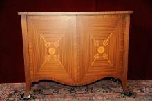 Server Inlaid with Floral Motif Accents on Front