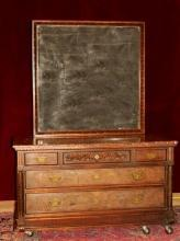 Antique Dresser with Large Mirror Stunning Marble Top Carved Woodwork