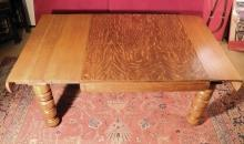 Vintage Table  Pillar Legs  Stowe Away Leaves Perfect Game Table