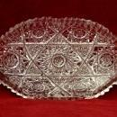 ABP Libbey Glass Oblong Candy Dish ABP Hobstar And Check Design