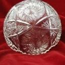 Vintage Taylor Glass Company Diamond Cut Bowl Saw Tooth Rim with Hobstar Design