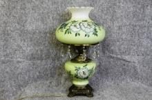 Vintage Gone With the Wind Lamp Mint Green Floral