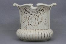 Red Wing Vase White # 1183 1943 Medallion