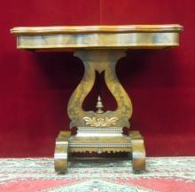 Antique Game Table Flip Fold Top