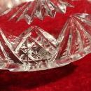 ABP  Hawkes Cut Glass Salt Dish Fans Radiant Star
