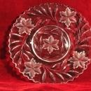 ABP Glass Hunt Plate Floral and tiny Hobstar