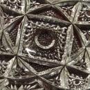Glass Candy Dish Pin wheel Hobstar Geometric cut patterns