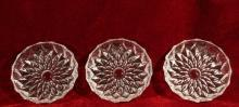 Glass Coasters Radiant Floral Star Set of Three