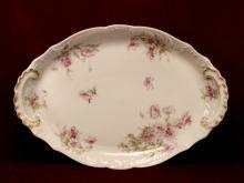 Theodore Haviland China Platter Oval Shape Floral Pattern