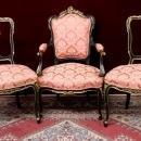 Louis XV Salon Set  Fauteuil Arm Chairs   Four Pieces Majestic