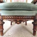French Arm Chair Needlepoint Wood Carved