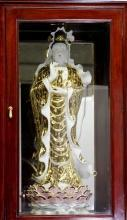 Kwan Yin Standing Tall Display Case