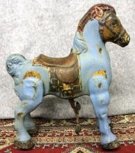 Mobo Pony Riding Toy Made in England Blue