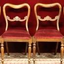 Balloon Backs Chairs Rosewood burgundy Mohair