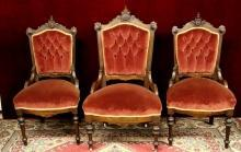 Antique Parlor Chair Crests Stunning
