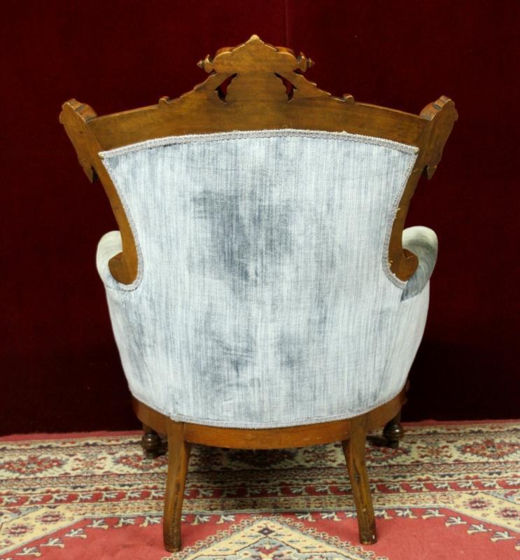Revival Chair John Jelliff Style Oranate  Figurals