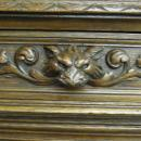 Antique Carved Griffin China Cabinet Hutch