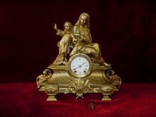 Antique Seth Thomas & Sons Madonna Jesus Mantel Figural Clock Rare to Find