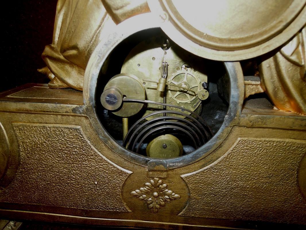 Antique Seth Thomas  Mantel Figural Clock Jesus Madonna Rare to Find
