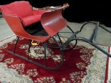 Portland Cutter Style Sleigh Red and Black with Shaves